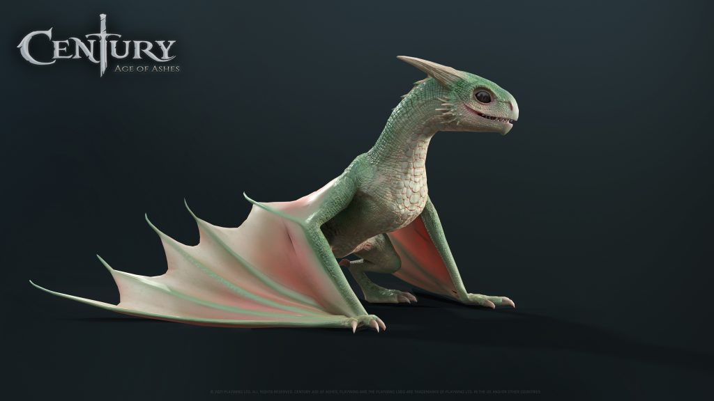 Century Age Of Ashes Baby Dragon concept Art